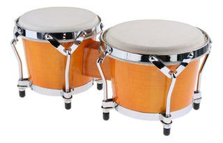 2 Piezas Bongo Tambor Africano Mano Tambor Instrumento De
