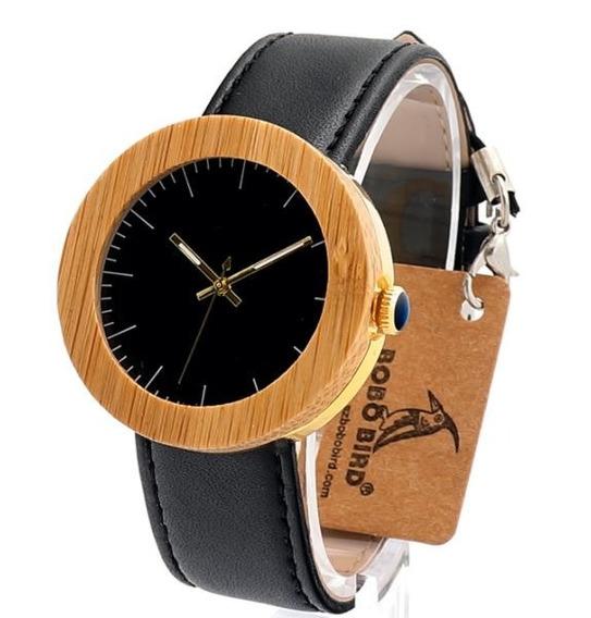 Relógio Feminino Bobo Bird Madeira Natural +aço Original J30