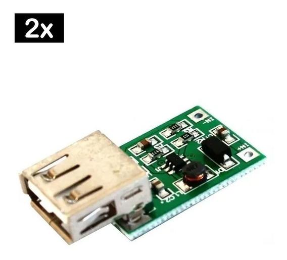 2x Regulador Tensão C/ Usb 5v Step Up Para Baterias 18650 Nf