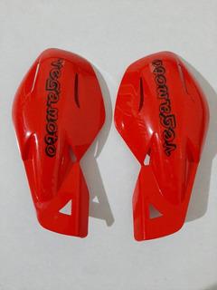 Cubre Puños Universales Moto Handguards Enduro Cross Rojos