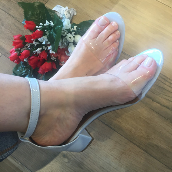 Sandália Salto Bloco Confort Luxo Santa Liz