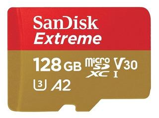 Sandisk Micro Sdxc Extreme U3 160mb/s 4k A2 128gb Original