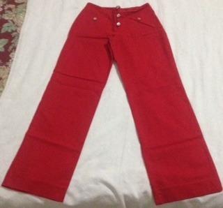 Pantalón Dama Talla 8 Rojo