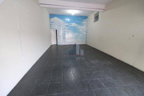 Imagem 1 de 5 de Salão Para Alugar, 70 M² Por R$ 1.300/mês - Jardim Mauá - Mauá/sp - Sl0157