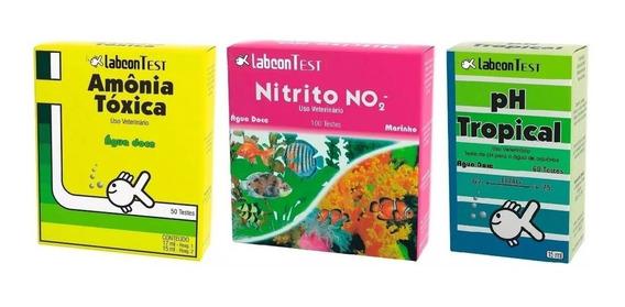 Alcon Kit Teste Para Aquário Doce Amonia + Nitrito + Ph