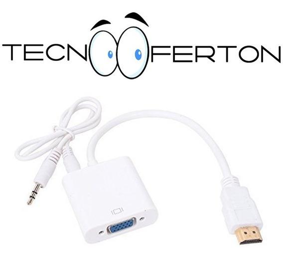 Hdmi Macho A Vga Hembra Cable Adaptador Con Audio 1080p