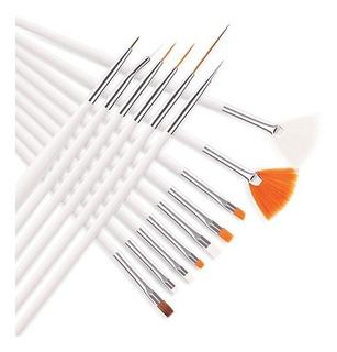Pinceles Para Decorar Uñas Manicura X 15,hermoso Toque