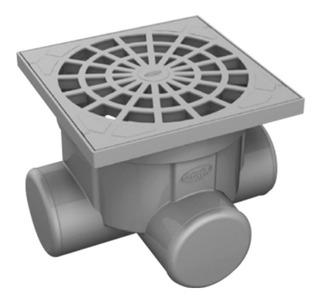 Caixa Coletora De Água Pluvial Durin Dn 100 - 20 X 24 X 24cm