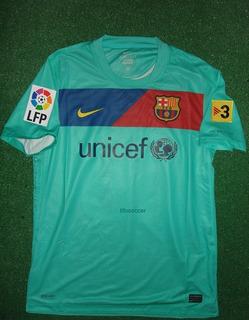Barcelona Azul Piscina - De Jogo - Messi #10 - 2010/2011