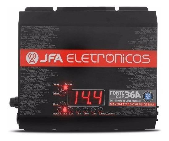 Fonte Carregador Automotiva Jfa 36 A Com Sistema Sci