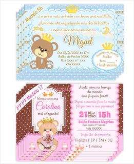 48 Convites Chá Bebê /chá De Fraldas