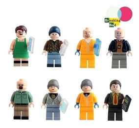 8 Figuras Breaking Bad Walter White Jesse Pinkman Bloques