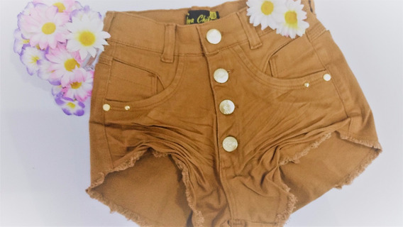 Shorts Jeans Cintura Alta Hot Pants