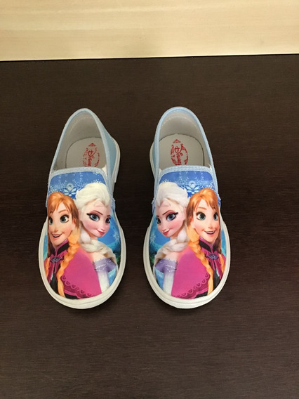Calçado Infantil Personagem Frozen Tenis Sapatinho Kids