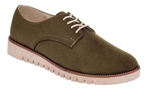 Zapato Been Class 12473 Mujer Talla 22-26 Color Olivo Pk-oi