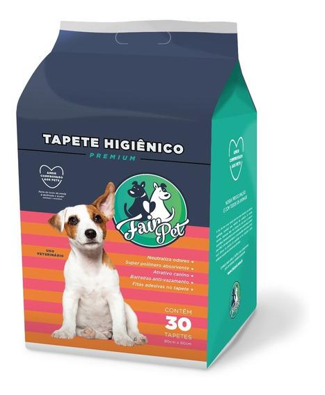 Tapete Higiênico Para Cães C/ 30 Unidades 80x60cm Premium