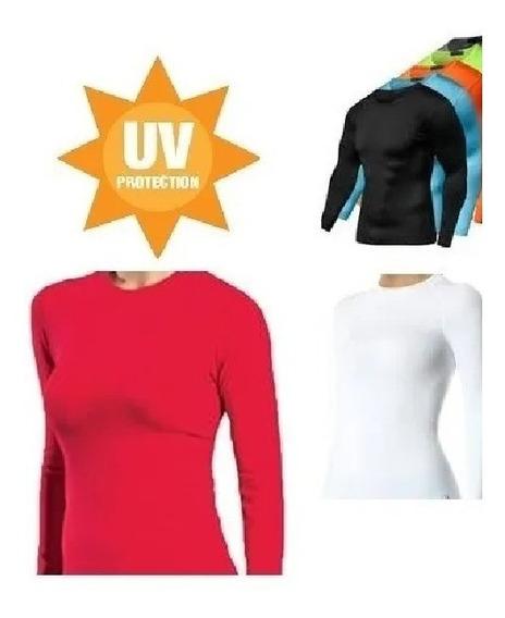 5 Camiseta Masculina Feminina Proteção Solar Manga Longa Uv