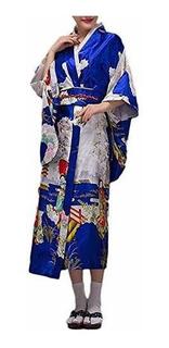 Hongh - Kimono Tradicional Japones Para Mujer Elegante Disfr