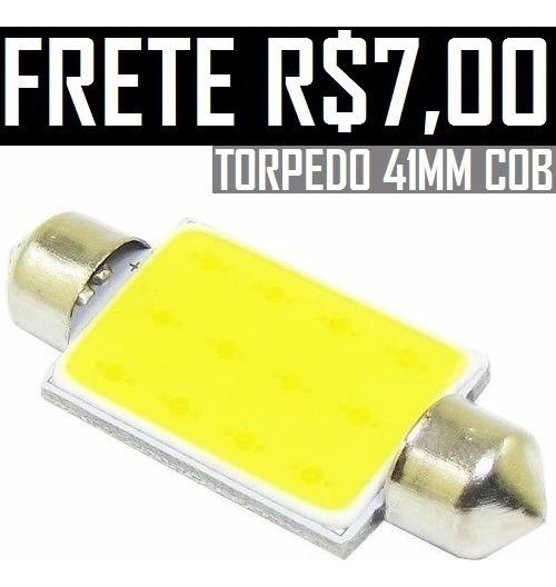 (frete $7) 10 Lâmpadas Torpedo Led Cob 42mm Teto Xenon 6000k