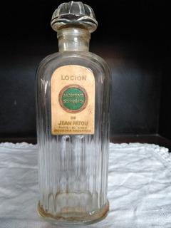 Frasco Antiguo De Perfume Loción Jean Palou .