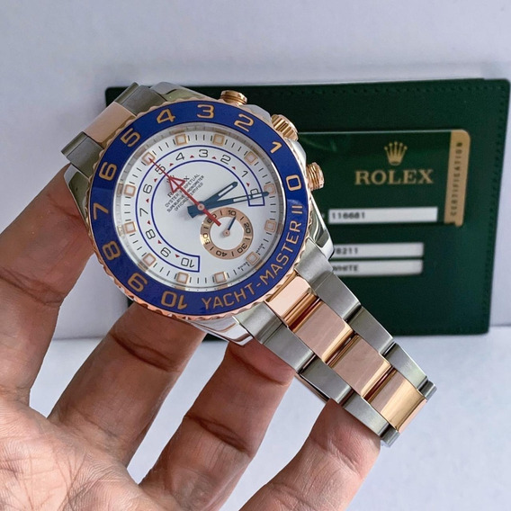 Rolex Yacht-master Ii Ouro Rosé & Aço 44mm Completo