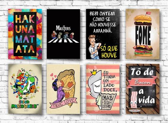 Kit 10 Placas Decorativas Mdf Frases Heróis Bebidas Games