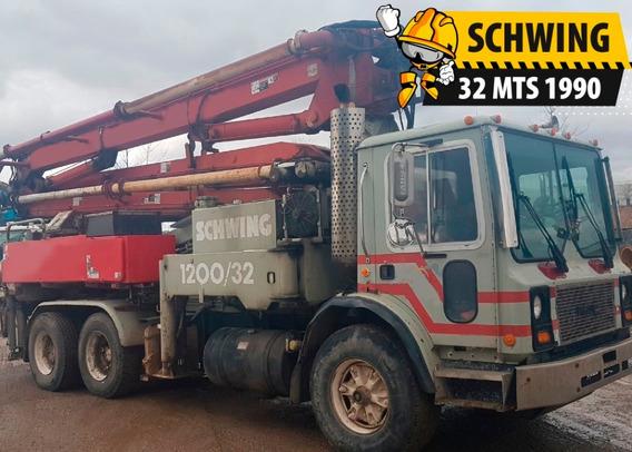 Mack - Schwing 32 Mts 1990 Bomba De Concreto
