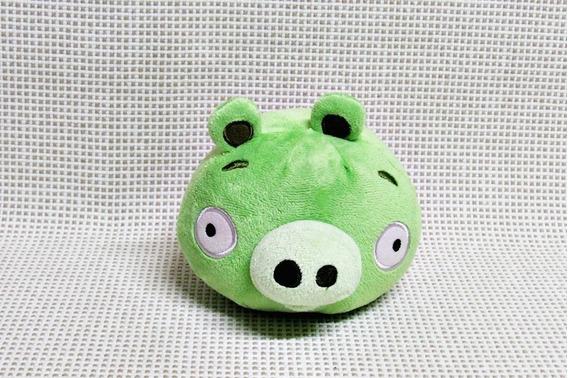 Pelucia Angry Birds Porco Verde 12 Cm Bau6