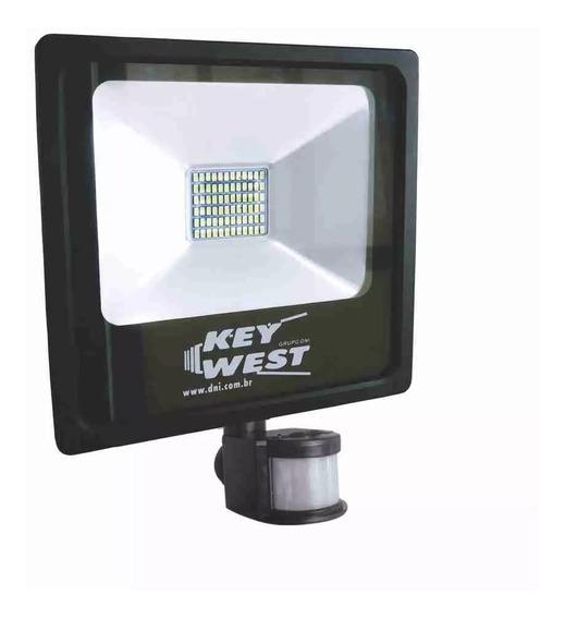 Refletor De Led 30w Com Sensor De Presença - Dni 6035