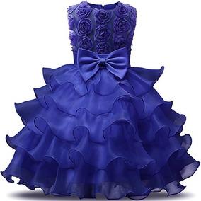 Vestido De Fiesta Para Nina Azul Rey Vestidos Populares 2019