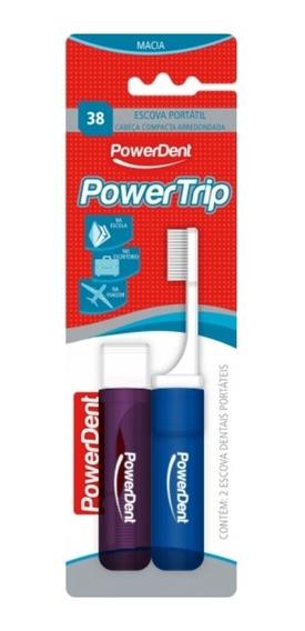Escova Dental Power Trip C/ 2 Unidades - Blister Powerdent