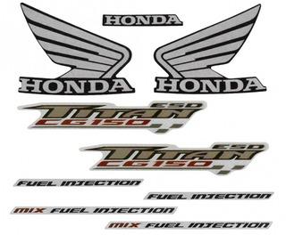 Faixas / Kit Adesivos Honda Titan 150 2009 Esd Preta