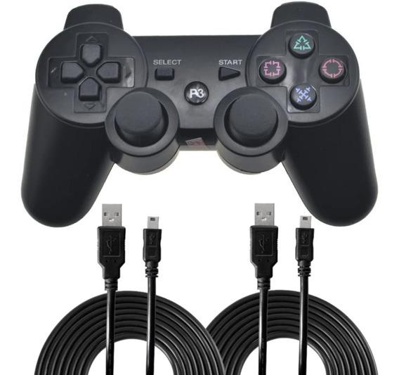 2 Controles Ps3 C/ Fio Dualshock 3 Atenção Não É Com Bateria