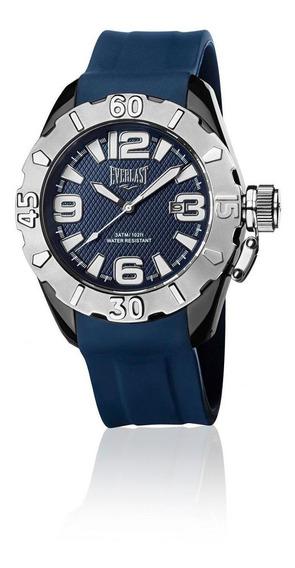 Relógio Masculino Everlast Esportivo Silicone Azul E09030