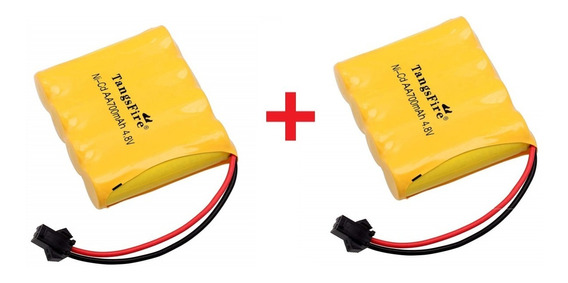 Kit Com 2 Baterias 4.8 700mah Ni-cd P/ Carrinhos Plug Smp 02