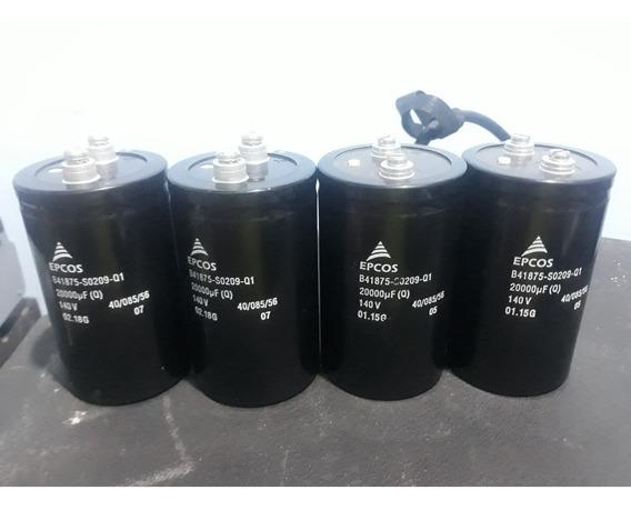 Capacitor Epcos 20.000uf X 140v Kit Com 6 Unidades