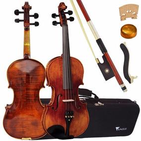 Violino Eagle Vk 644 Case, Breu, Arco Espaleira Promoção!
