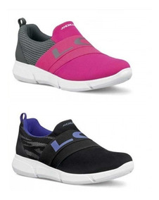 Tenis Color Fiusha O Negros, Sneaker Slip On, Mujer, Andrea
