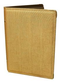 Pasta Nº 3 - Para Hinos - Linho Dourado - Kit C/ 35 Pastas