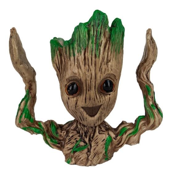 Baby Groot Vaso Suculentas Cacto Mão Para Cima Planta Resina