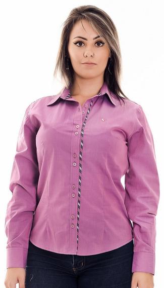 Camisa Feminina Cindy - Pimenta Rosada Algodão Egípcio