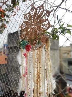Atrapasueños A Crochet 30 Cm En Flores Caba Biancatrama.
