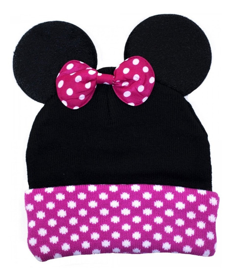 Touca Gorro Infantil Orelhas Minnie Inverno - Disney
