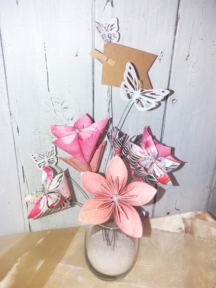Centro De Mesa Origami 15 Años-boda-baby Shower