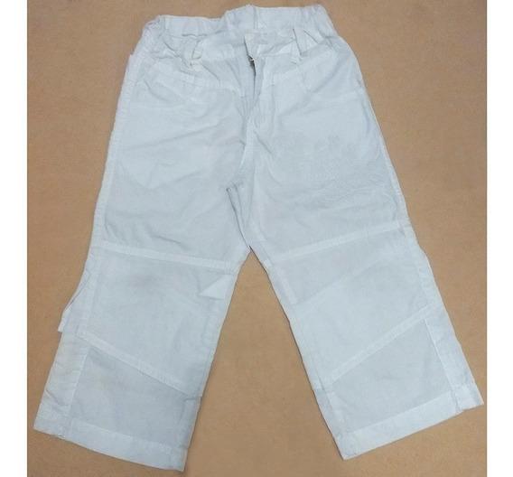 Pantalón Para Beba En Algodón Color Blanco Talle Xl