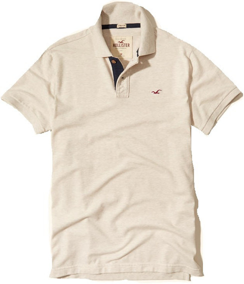 Hollister Polo De Pique Beige Originales Sale