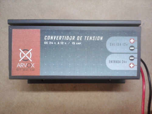 Convertidor 24 V. - 12 V. 15 Amp. Arvox