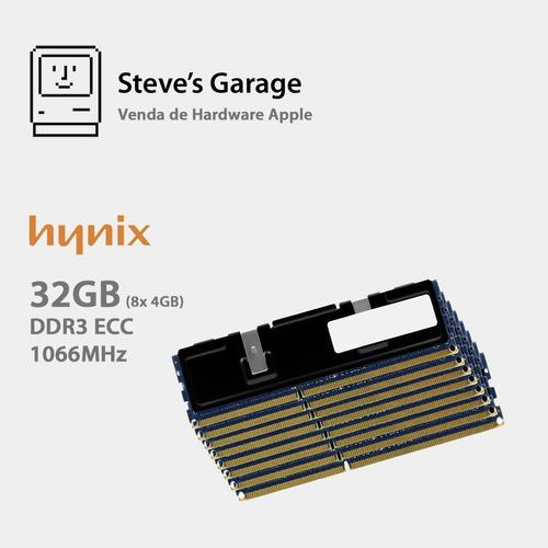 Imagem 1 de 2 de Memória Ram Mac Pro 2009 2010 2012 - 32gb Ddr3 Hynix 8x 4gb