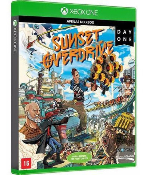 Jogo Sunset Overdrive Xbox One Mídia Física Day One Lacrado