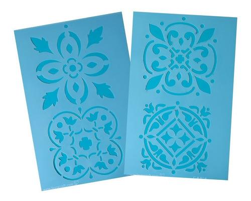 Stenciles Laura Craft Set Azulejos Calcareos